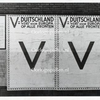 Original WWII German photo - V=Victorie posters in the Netherlands
