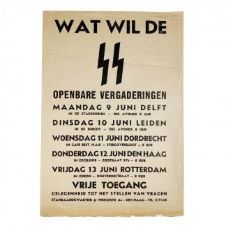 Original WWII Dutch SS poster