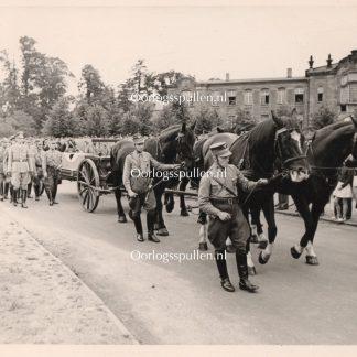 Original WWII Dutch NSB photo - Funeral of Fritz Schmidt
