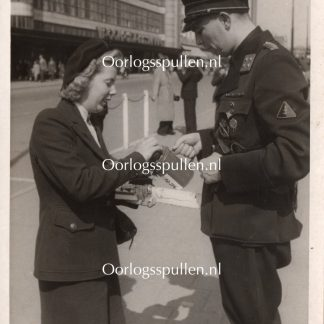 Original WWII Dutch NSB photo - Collecting for Frontzorg