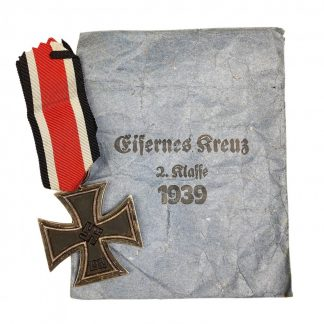 Original WWII German Iron Cross 2nd class with pouch