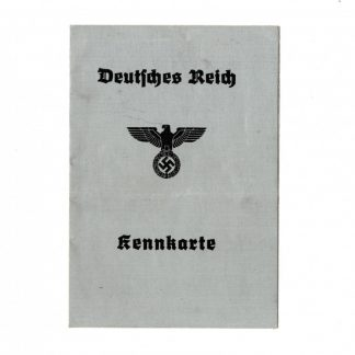 Original WWII German Kennkarte - Diepholz
