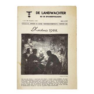 Original WWII Nederlandsche Landwacht (Spoorwacht) booklet 1944