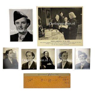 Original WWII Dutch Jeugdstorm photo grouping - Lien van Eck