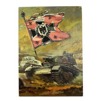 Original WWII German WH Panzer postcard