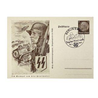 Original WWII German Waffen-SS postcard