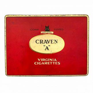 Original WWII British Craven ''A'' cigarettes tin