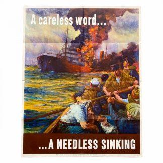 Original WWII US poster – A careless word