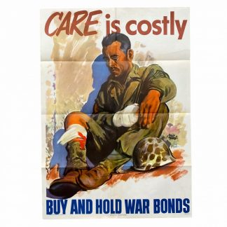 Original WWII US poster - Care is costly