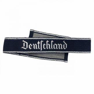 Original WWII German Waffen-SS officers flatwire 'Deutschland' cuff title