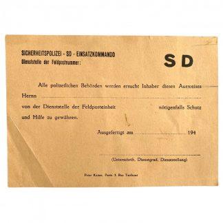 Original WWII Dutch resistance forged Sicherheitsdienst ausweis