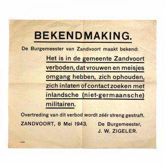 Original WWII Dutch poster - Freies Indien volunteers in Zandvoort