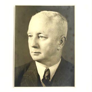 Original WWII Dutch NSB large portrait photo Max Blokzijl autograph