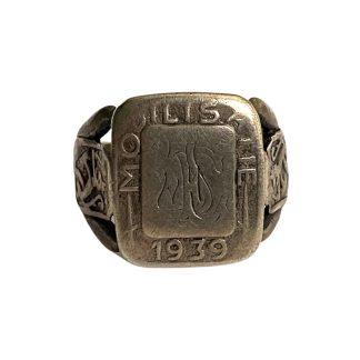 Original Pré 1940 Dutch army mobilization ring