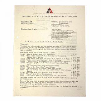 Original WWII Dutch NSB document - Newly released books
