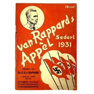 Original WWII Dutch NSNAP booklet