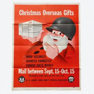 Original WWII US poster – Overseas Christmas Gifts