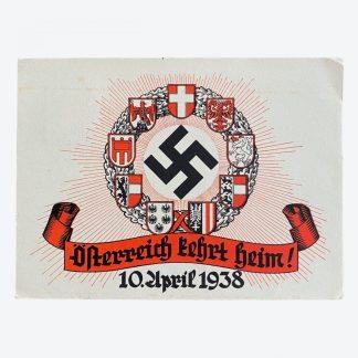 Original WWII German post card - Österreich kehrt heim!
