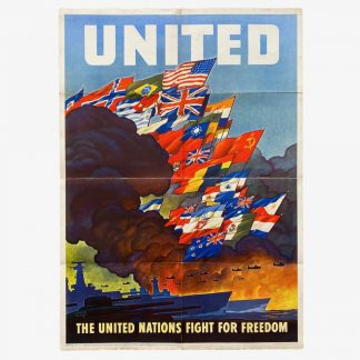 Original WWII US poster – The United Nations fight for Freedom