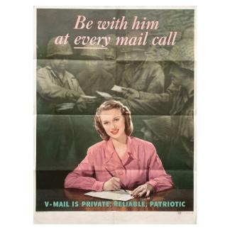 Original WWII US poster – V-mail