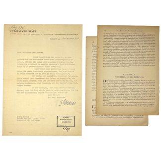 Original WWII German letter to Evert Jan Roskam (Agrarisch Front)