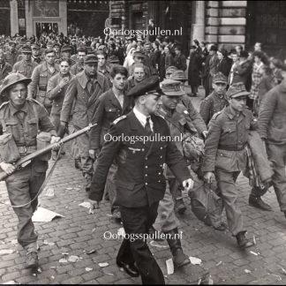 Original WWII British photo - German prisoners in Antwerp