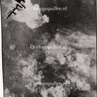 Original WWII British photo - R.A.F. Bombers support Allied Offensive near Aachen