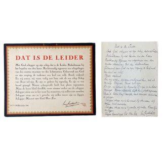 Original WWII Dutch NSB set Cornelis van Geelkerken