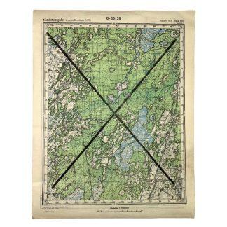 Original WWII German map of Selo-Gora