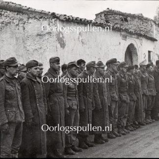 Original WWII British photo - German prisoners taken in North Africa