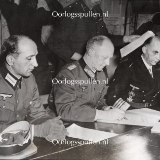 Original WWII British photo - Germany signs the terms of surrender