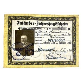 Original WWII German hunting license