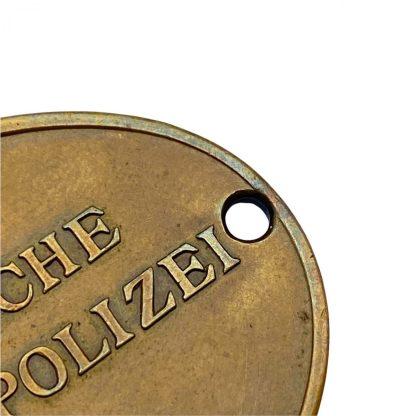 Original WWII German 'Staatliche Kriminalpolizei' ID disc