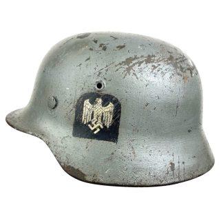 Original WWII German Küstenartillerie M40 shipboard grey helmet