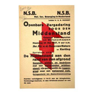Original WWII Dutch NSB leaflet