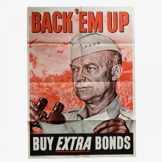 Original WWII US poster - Back 'em up