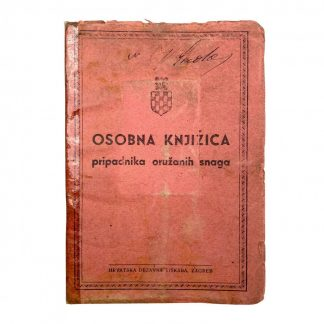 Original WWII Croatian collaboration 'Ustaša movement' soldbuch