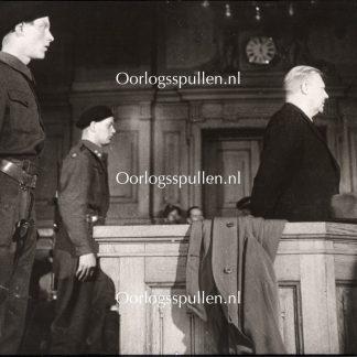 Original WWII British photo - Vidkun Quisling in Norway on trial