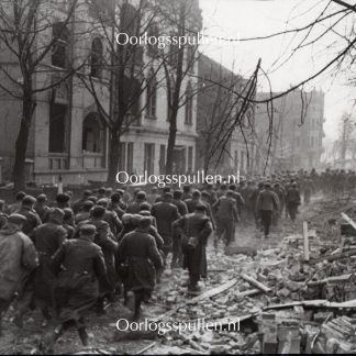 Original WWII British photo - Captured German soldiers in Wesel