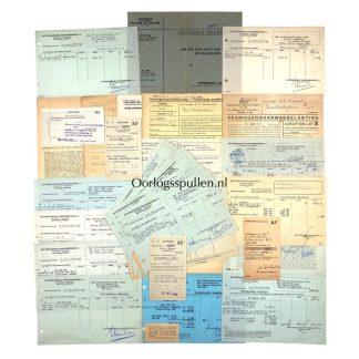 Original WWII Dutch bank document grouping NSB leader Anton Mussert