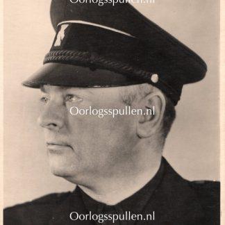 Original WWII Dutch NSB portrait photo Anton Mussert with autograph