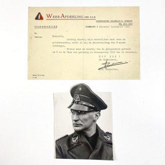Original WWII Dutch NSB portrait photo and document Arie Zondervan