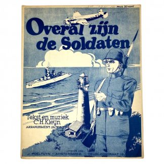 Original Pré 1940 Dutch army music sheet