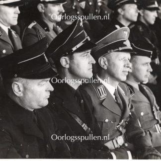 Original WWII Dutch NSB large photo - Mussert & Van Geelkerken