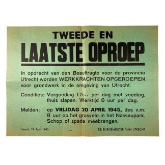 Original WWII Dutch poster Utrecht