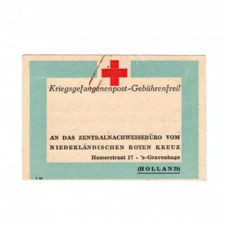 Original WWII Dutch Red Cross POW package receipt