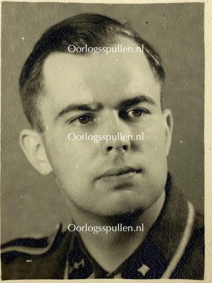 Original WWII Dutch Waffen-SS pass photo with envelope