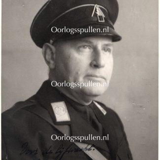 Original WWII Dutch NSB photo with autograph - Mayor of Rotterdam Frederik Ernst Müller