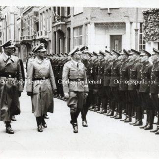 Original WWII Dutch SS photo - Visit of Heinrich Himmler to the Netherlands