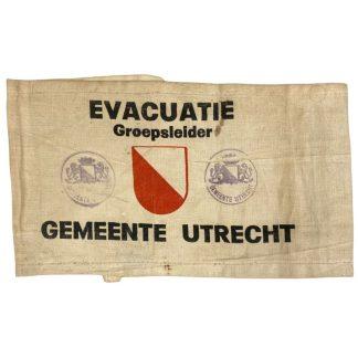 Original WWII Dutch 'Luchtbeschermingsdienst' Evacuation department Utrecht